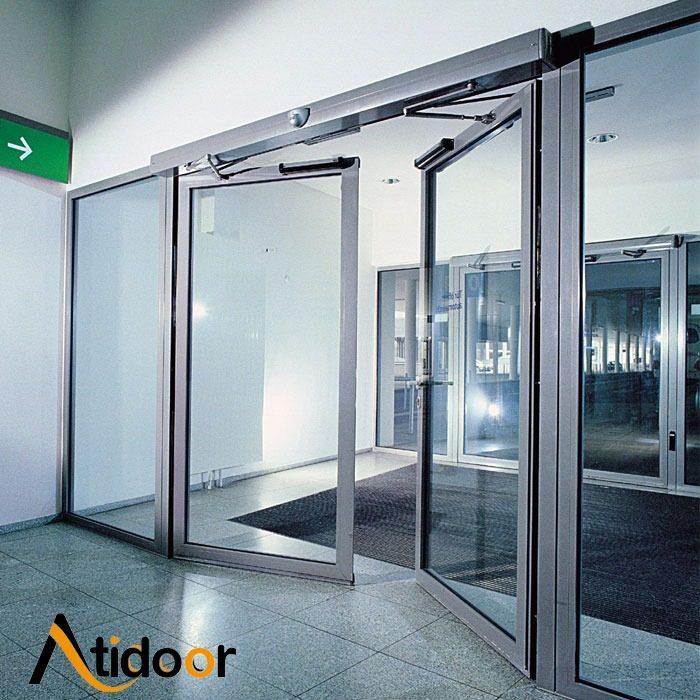 درب اتوماتیک شیشه ای لولایی (1)